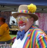 Clowning around at National Wooly Willy Wonderdaze - 2012